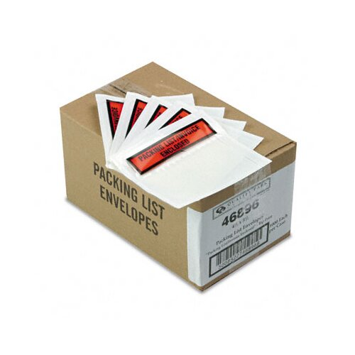 Quality Park Products Top-Print Self-Adhesive Packing List Envelope, 1000/Carton