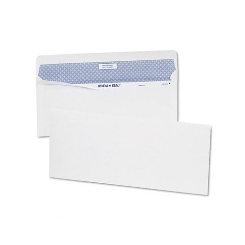 Quality Park Products Reveal-N-Seal Business Envelope, Contemporary, #10, White, 40/box