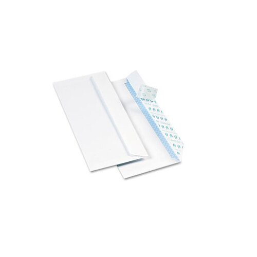 Quality Park Products Redi-Strip Security Tinted Envelope, Contemporary, #10, White, 500/box