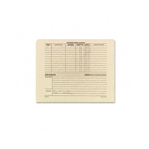 Quality Park Products Employee Record Jackets, 11-3/4 x 9-1/2, 11 Pt. Manila, 100/bx