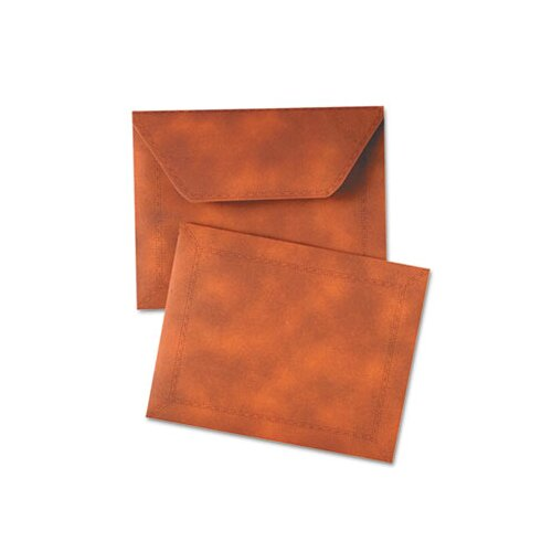 Quality Park Products Designer Document Carrier, Expanding, Letter Size, 9 1/2 x 12, Brown