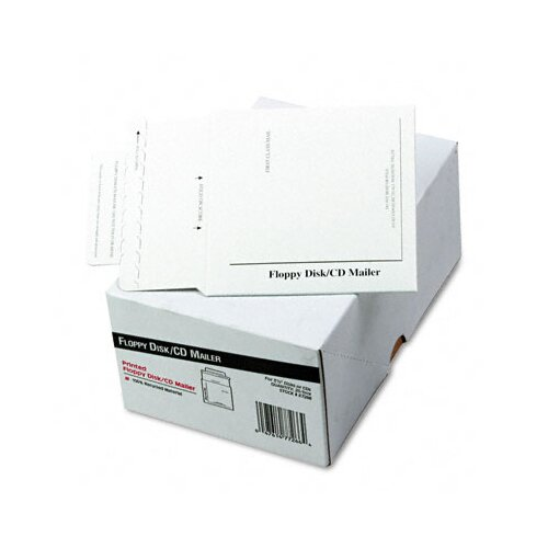Quality Park Products Recycled Foam-Lined Multimedia Mailer, Contemporary, 5 x 5, White, 25/box