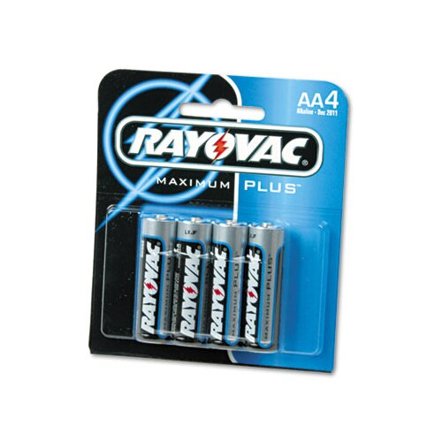 Rayovac® AA Alkaline Battery, 4/Pack
