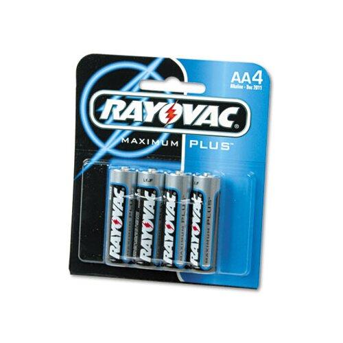Rayovac® AA Alkaline Battery, 4/Pack