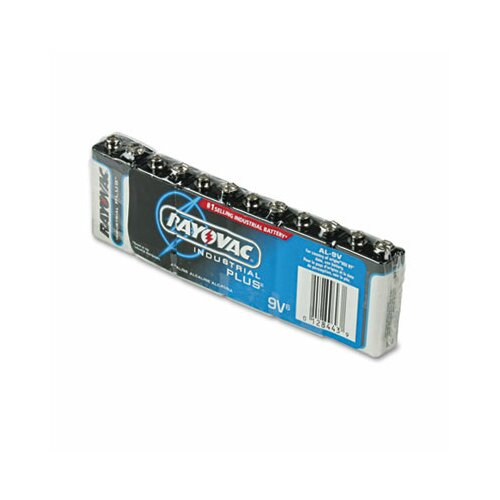 Rayovac® Industrial PLUS Alkaline Batteries, 9V, 6/Pack