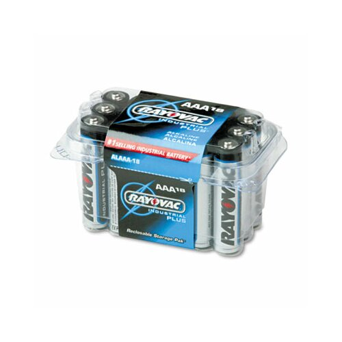 Rayovac® Industrial Plus AAA Alkaline Battery, 18/Pack