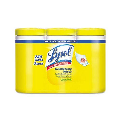 Reckitt & Benckiser Disinfecting Wipe, 3/Pack