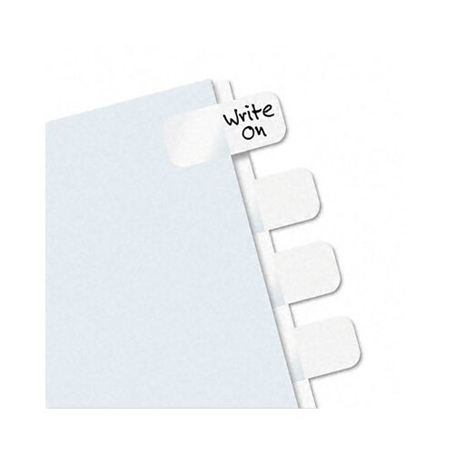 Redi-Tag Corporation Side-Mount Self-Stick Plastic Index Tab, 416/Pack