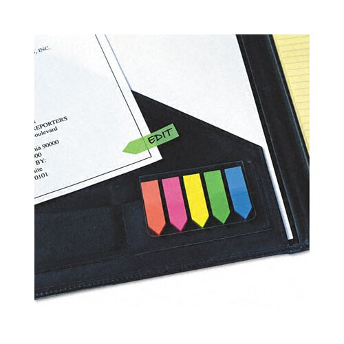 Redi-Tag Corporation Seenotes Transparent Film Arrow Flag, 5 Pads of 50 Flags/Pack