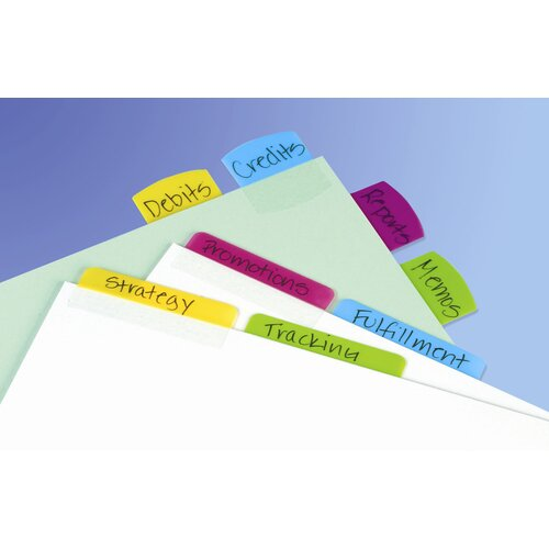 "Redi-Tag Corporation 1"" Multicolor Index Tab (48 Count)"