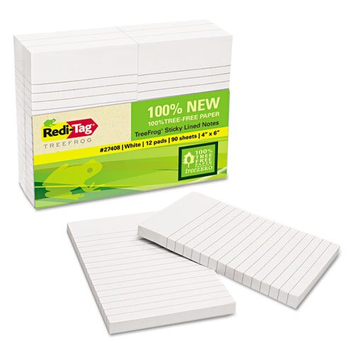 Redi-Tag Corporation Sugar Cane Self-Stick Notes (12 Pack)