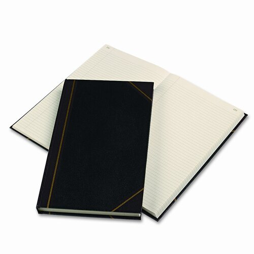Rediform Office Products Texhide Series Account Book, BLK/BY, 300 GN Pages, 14-1/4 x 8-3/4