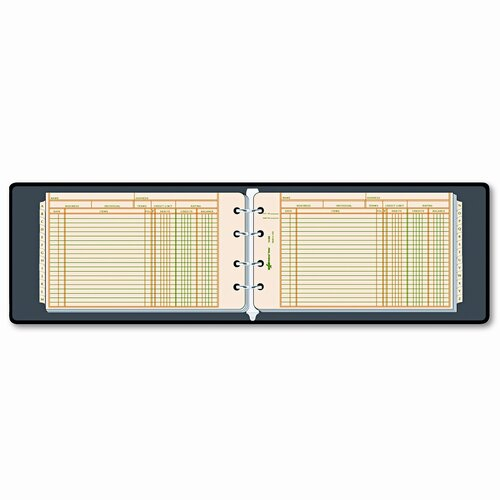 Rediform Office Products Four-Ring Ledger Binder Kit, 100 Ledger Sheets, 8-1/2 x 5-1/2