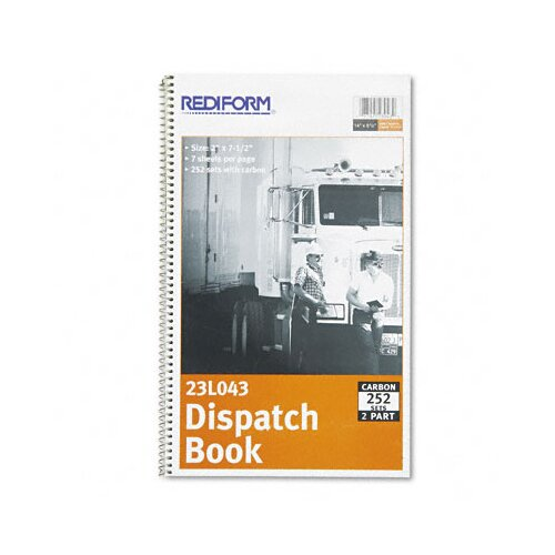 Rediform Office Products Driver's Dispatch Log Book, 252 Sets/Book