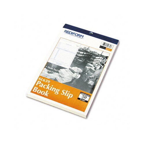 Rediform Office Products Packing Slip Book, 50 Sets/Book