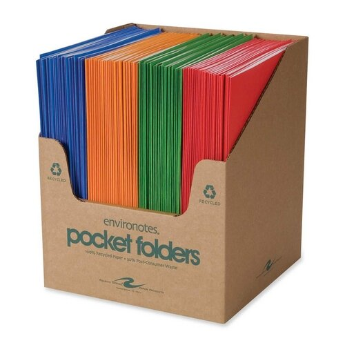 """Roaring Spring Paper Products Two Pocket Folders, 11-3/4""""x9-1/2"""", 100 per Carton, Fashion Assorted"""
