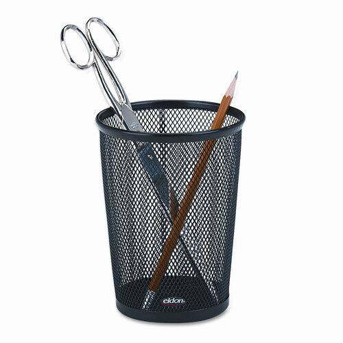 Rolodex Corporation Nestable Jumbo Wire Mesh Pencil Cup, 4 3/8 dia. x 5 1/8, Black