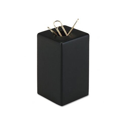 Wood Tones Paper Clip Holder, Wood, 2 1/8w x 2 1/8d x 3 1/2h, Black ...