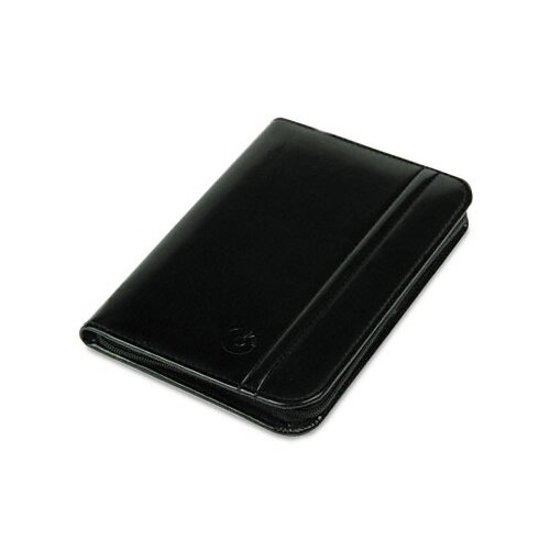 Rolodex Corporation Faux Leather Business Card Book with Zipper Holds 120 2-1/4 x 4 Cards, Black