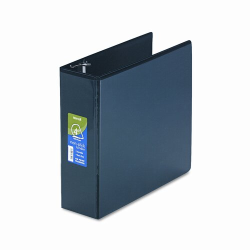Non-Stick D-Ring Locking View Binder, 8-1/2 x 11, 4in Capacity