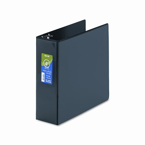 Non-Stick Round Ring Poly View Binder, 8-1/2 x 11, 4in Capacity