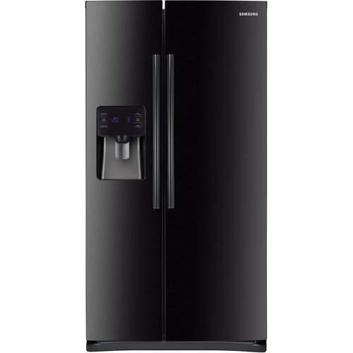 25 Cu. Ft. Side-by-Side Refrigerator with LED Tower Lighting