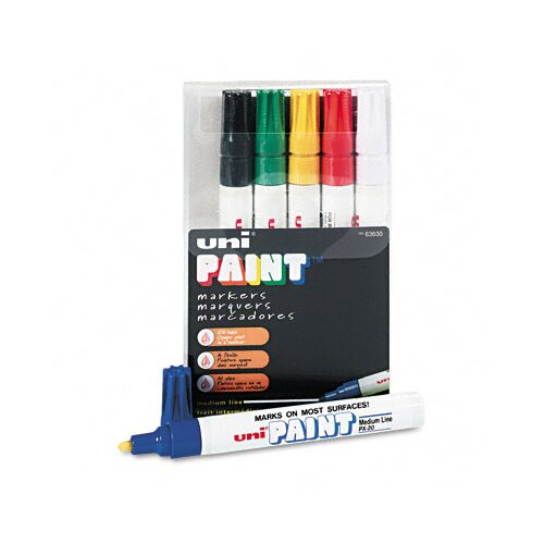 Sanford Ink Corporation Uni-Paint Marker, 6/Set