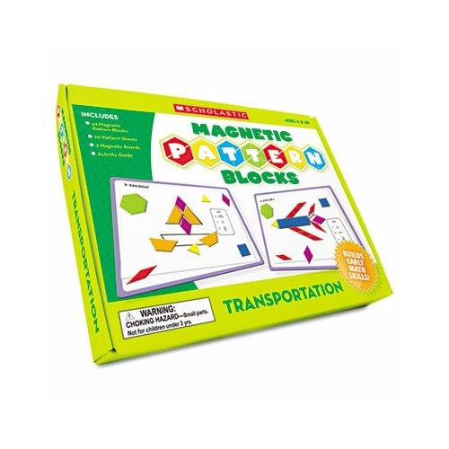 Scholastic Transportation Magnetic Pattern Blocks