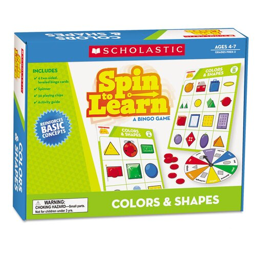 Spin To Learn Colors and Shapes Game