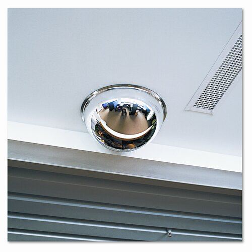 """See-All Industries Full Dome Convex Security Mirror, 18"""" Dia."""