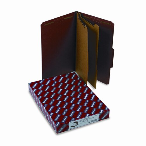 Smead Manufacturing Company Pressboard Classification Folders, Tab, 10/Box