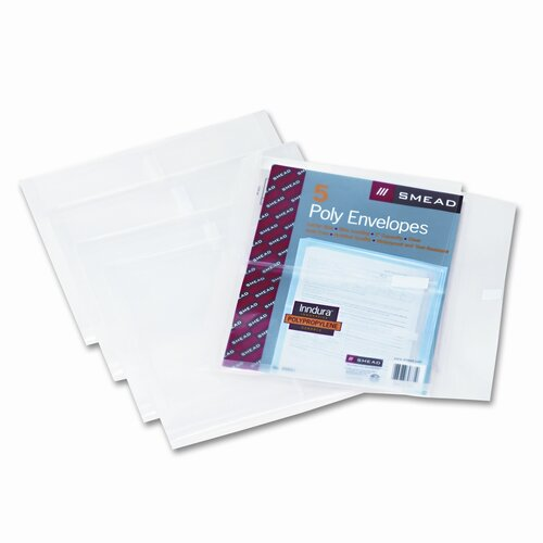 Smead Manufacturing Company Side-Load Envelopes with 1.25 Inch Expansion, 5/Pack