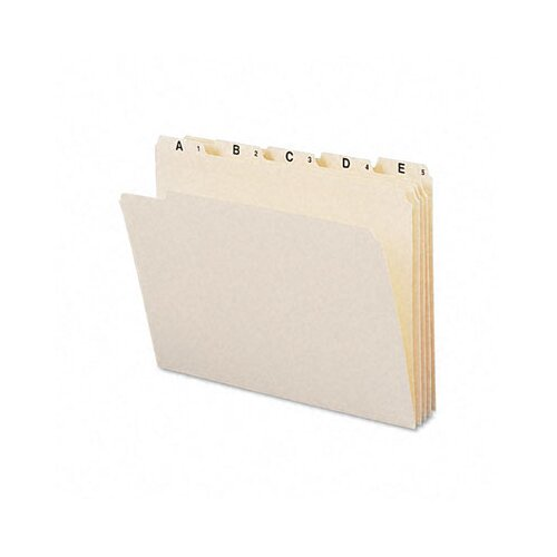 Smead Manufacturing Company Indexed A-Z File Folders, 25/Set