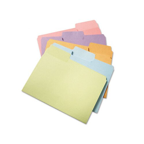 Smead Manufacturing Company Supertab File Folders, 1/3 Cut Top Tab, Letter, 100/Box