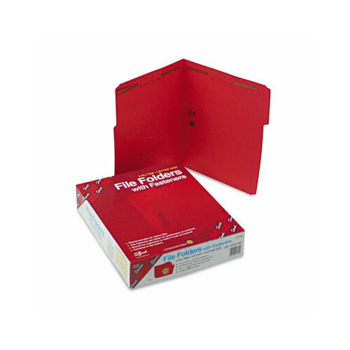 Smead Manufacturing Company Two Fasteners 1/3 Cut Assorted Folders, 50/Box