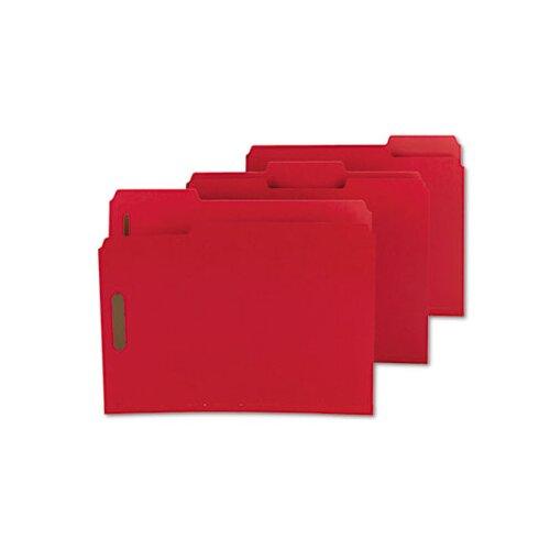 Smead Manufacturing Company Colored Pressboard Fastener Folders, Letter, 25/Box