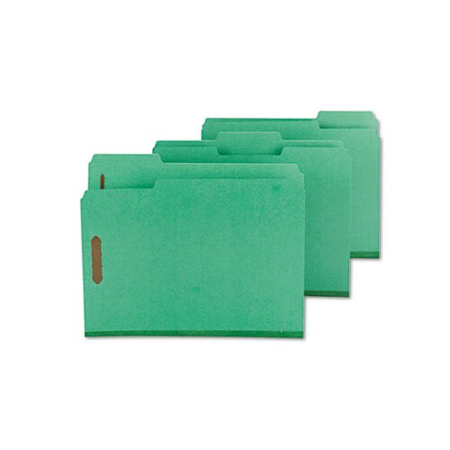 Smead Manufacturing Company Colored Pressboard Fastener Folders, Letter, 1/3 Cut, 25/Box