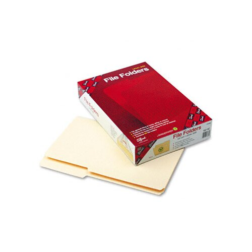 Smead Manufacturing Company Guide Ht File Folder, 2/5 Cut Rt of Center, 1-Ply Top Tab, Legal, MLA, 100/Box