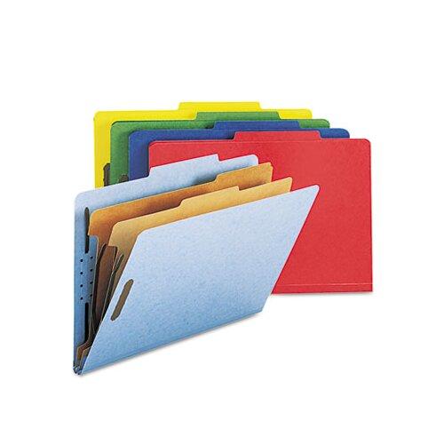Smead Manufacturing Company Six-Section Pressboard Classification Folders, Legal, 10/Box