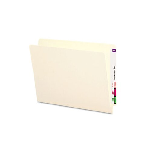 Smead Manufacturing Company Straight Cut Reinforced End Tab Folders, 100/Box