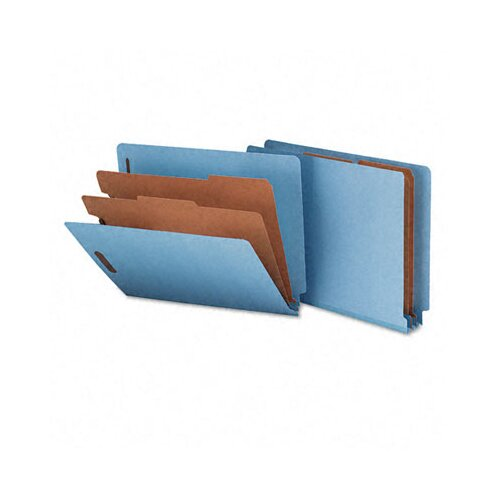 Smead Manufacturing Company Six-Section Pressboard Classification End Tab Folder, Letter, 10/Box