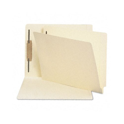 Smead Manufacturing Company Antimicrobial One-Fastener End Tab Folder, 50/Box