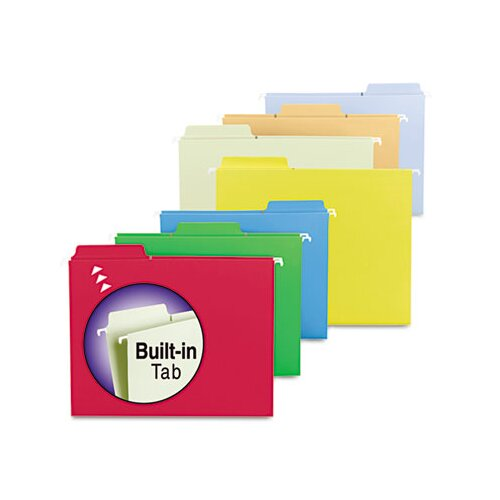 Smead Manufacturing Company Fastab Hanging File Folders, 18/Box