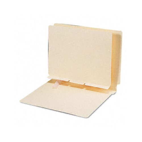 Smead Manufacturing Company Manila Self-Adhesive Folder Dividers with Prepunched Slits, 100/Box