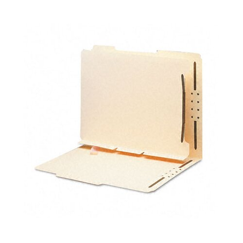 Smead Manufacturing Company Manila Self-Adhesive Folder Dividers with Twin-Prong Fastener, 25/Pack