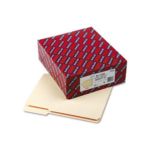 Smead Manufacturing Company Reinforced Tab Manila File Folder, 100/Box