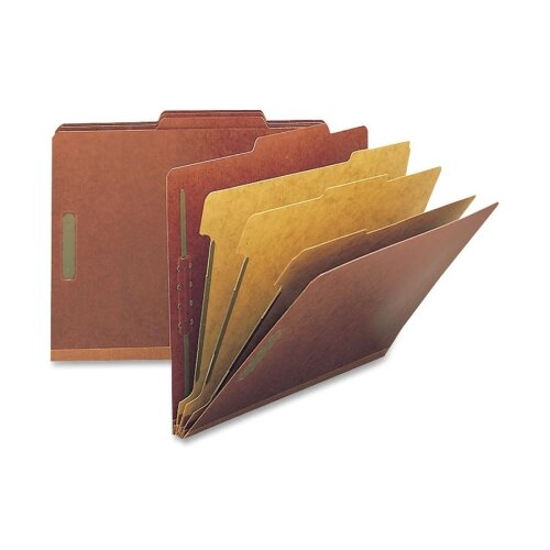 """Smead Manufacturing Company Folders, Letter, 3 Partition, 3"""" Expansion, Letter, Red/Gray"""