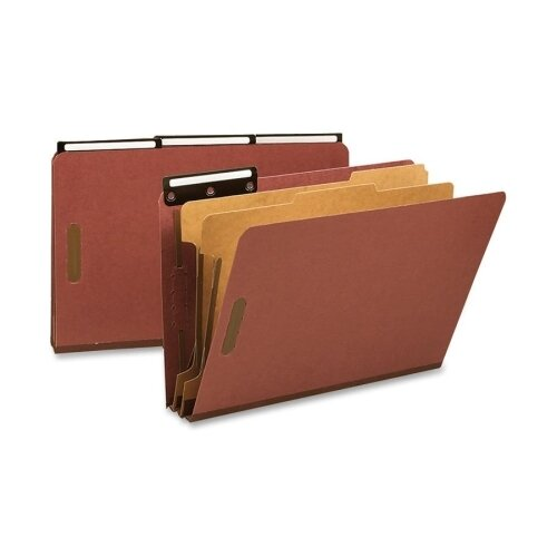 Smead Manufacturing Company Pressboard Metal Tab Classification Folders, 10/Box