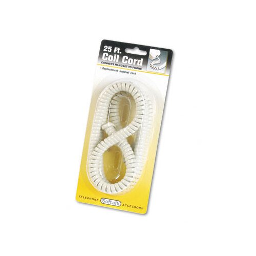 Softalk, LLC Coiled Phone Cord, Plug/Plug