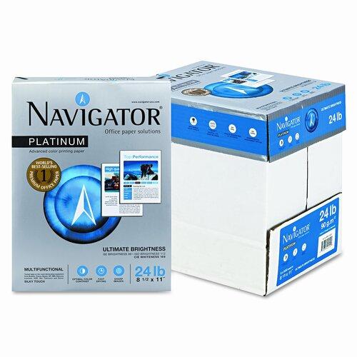 Soporcel North America Navigator Platinum Paper, 99 Brightness, 2500/Carton